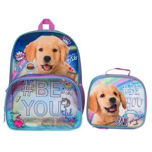 Puppy Backpack and Lunch Box Set